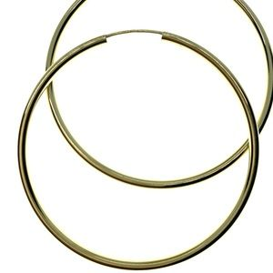 14kt Gold Italian hoop earrings